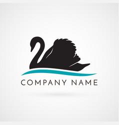 Swan logo sign emblem-19 vector