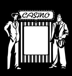 Casino mafia vector image vector image
