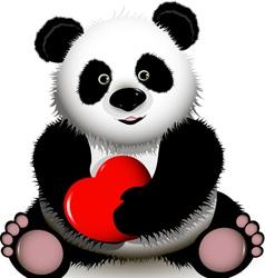curious panda vector image