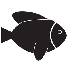 fish icon on white background fish sign vector image vector image