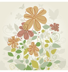 Flowers in the spring2 vector image vector image