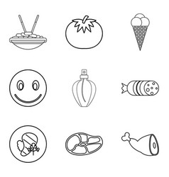 make merry icons set outline style vector image