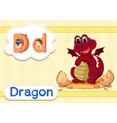 D for Dragon vector image vector image