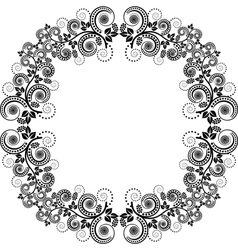 decorative square frame vector image vector image