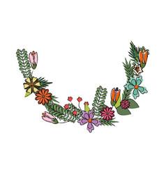 flower tropical flora beauty nature decoration vector image vector image