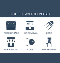 6 layer icons vector