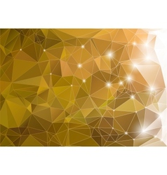 Abstract green shiny background polygon vector image