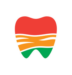 abstract tooth sign logo vector image