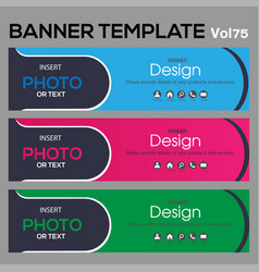 Banner web template background vector