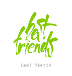 best friends lettering vector image