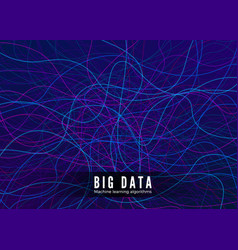 big data visualisation machine learning and vector image