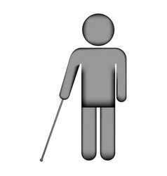 Blind disabled sign icon vector