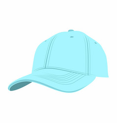 Blue baseball cap vector