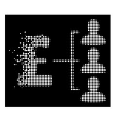 Bright destructed pixelated halftone pound vector