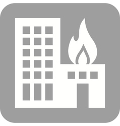Burning Building vector