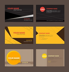 Business Name card set 2 vector