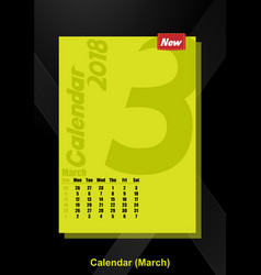calendar ui march image vector image
