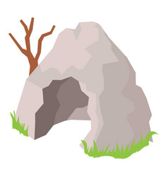 Cave icon isometric style vector