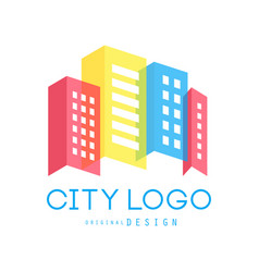 city logo original design of real estate and city vector image