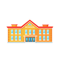 Colorful brick school building vector