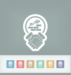 Construction agreement icon vector