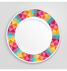 Decorative plate top view vector image