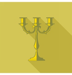 Digital candlestick with shadow vector
