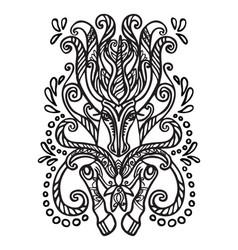 Doodle unicorn vector