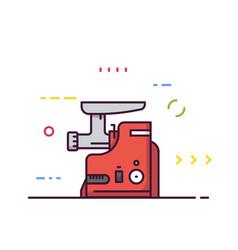 electric modern meat grinder vector image