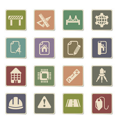 engineering icon set vector image