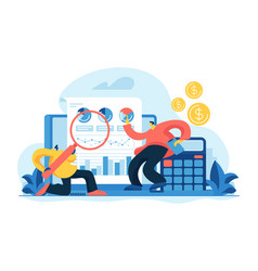 Financial and it audit concept vector