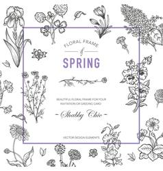 Floral Frame Invitation Card Wedding Card vector