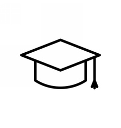 Graduation Cap Outline Icon vector