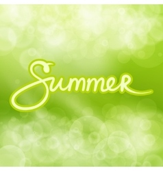 Green Abstract Background with Text Summer vector image