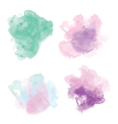 Hand drawing watercolor background set vector