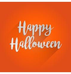 Happy Halloween Lettering Design vector image