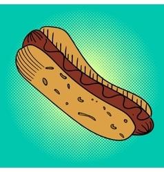 Hot dog Pop art vector image