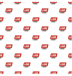 Hot live stream pattern seamless vector