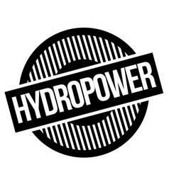 Hydropwer typographic stamp vector
