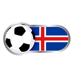 iceland soccer icon vector image