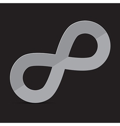Infinity Symbol on Dark Background vector