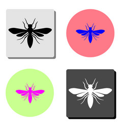 insect flat icon vector image