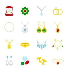 Jewelry icon flat vector image