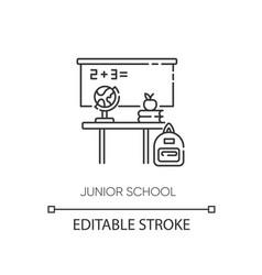 Junior school pixel perfect linear icon vector