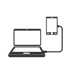 laptop smartphone device icon graphic vector image