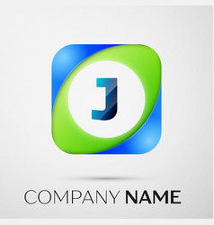 Letter j logo symbol in the colorful square vector