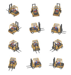 loader with different viewing angles vector image