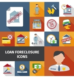 Loan Foreclosure Icons vector image