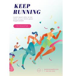 marathon running poster vector image