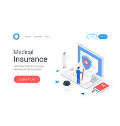 medical insurance isometric concept vector image